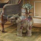 """Art Deco Exclusive 18""""Jaipur Elephant Festival Glass Topped Cocktail CoffeeTable"""