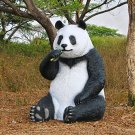 Design Toscano 7 FT Sitting Oversized PANDA Bear with Paw Seat YARD Statue