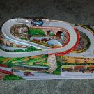 Vintage ANTIQUE Collectible TECHNOFIX Race Track WITH Cars Tin Toy W Germany