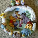 Disney winnie the pooh pooh's sweet dreams limited edition 3d art plate