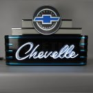 lg Chevelle man cave SS Neon shop Sign light- Chevrolet - Bow Tie - Chevy - GM -