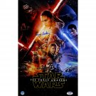 STAR WARS THE FORCE AWAKENS EPISODE VII 7 DAISY RIDLEY SIGNED 10x16 poster PSA