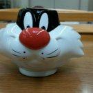 Looney tunes vintage Sylvester Cat Souvenir Mug cup Six Flags America Vintage