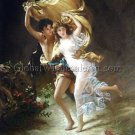 Hand Painted A Storm Auguste Cot Reproduction Museum Quality Oil Painting 20X24