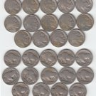 PARTIAL SET OF 14 DIFFERENT BUFFALO NICKELS, INCLUDING KEY DATES