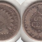 NICE 1863 INDIAN CENT   CIVIL WAR YEAR