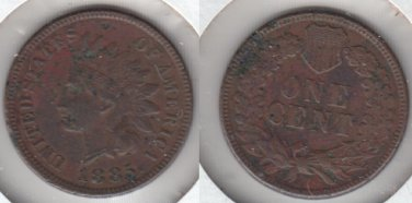 SHARP XF DETAIL 1885 INDIAN CENT  FEW TINY PITS