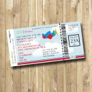 Airplane Birthday Party Boarding Pass Ticket Invitation Personalized Digital Invitation
