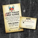 Vintage Tattoo Rock -N- Roll Printable custom wedding invitation suite with RSVP Digital Invitation
