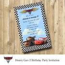 Disney Cars 2 Birthday Party Invitation Personalized Printable Invitation