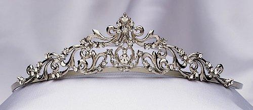 Antique Silver Rhinestone Tiara