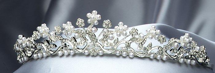 Silver / White Rhinestone Tiara