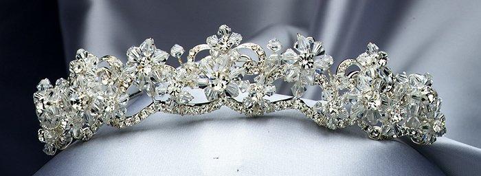 Crystal / Silver Rhinestone Tiara