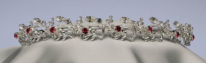 Ruby bridal Headpiece