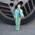 Handmade Barbie 3 Piece Jogging Set In Green
