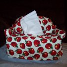 Handmade Red Apple Couch Tissue Box Cover