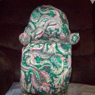 Handmade Green Paisley Chair Tissue Box Cover
