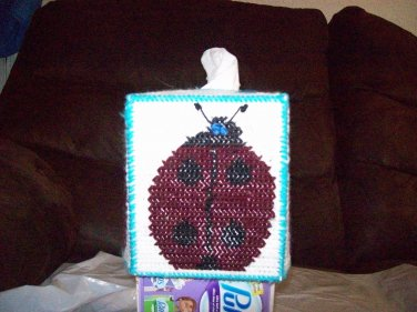 Handmade Plastic Canvas Ladybug Tissue Box Cover