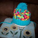 Hand Crocheted Hat For Kids In Blacklight