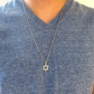 Men's Necklace - Men's Star Of David Necklace - Men's Silver Necklace - Mens Jewelry