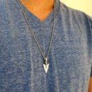 Men's Necklace - Men's Spear Necklace - Men's Silver Necklace - Mens Jewelry