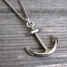 Men's Necklace - Men's Nautical Necklace - Men's Silver Necklace - Mens Jewelry