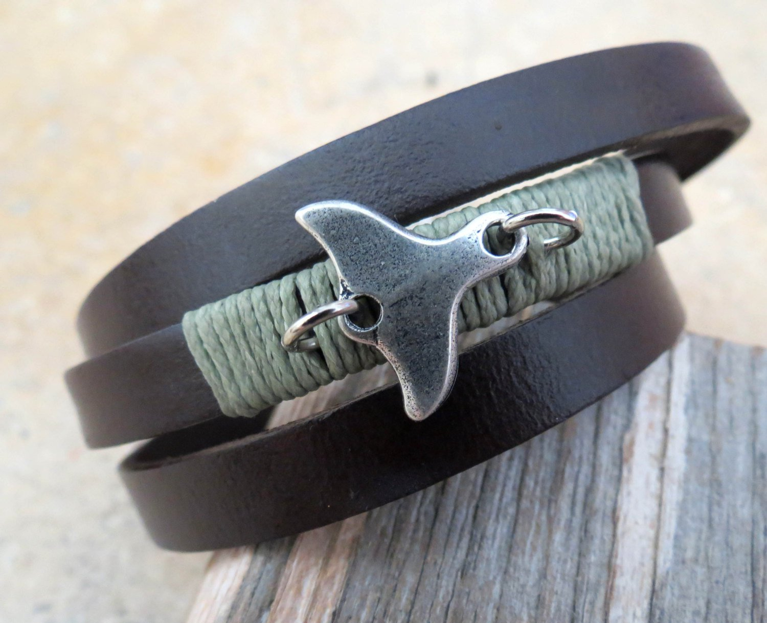 Men's Bracelet - Men's Tail Bracelet - Men's Brown Bracelet - Men's Leather Bracelet