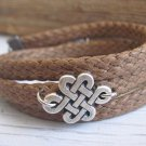 Men's Bracelet - Men's Infinity Bracelet - Men's Brown Bracelet - Men's Jewelry