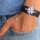 Men's Bracelet - Men's Compass Bracelet - Men's Black Bracelet - Mens Jewelry