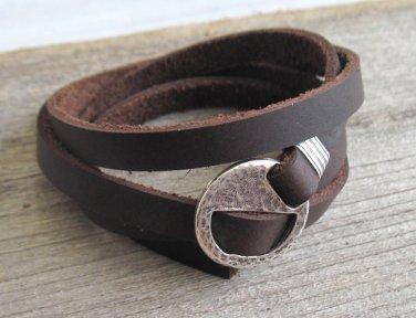 Men's Bracelet - Men's Geometric Bracelet - Men's Brown Bracelet - Men's Leather Bracelet