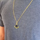 Men's Necklace - Men's Anchor Necklace - Men's Gold Necklace - Mens Jewelry