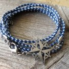 Men's Bracelet - Men's Compass Bracelet - Men's Blue Bracelet - Mens Jewelry - Bracelets For Men
