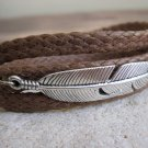 Men's Bracelet - Men's Feather Bracelet - Men's Brown Bracelet - Men's Jewelry - Bracelets For Men