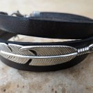 Men's Bracelet - Men's Feather Bracelet - Men's Leather Bracelet - Men's Jewelry - Men's Gift