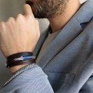 Men's Bracelet - Men's Leather Bracelet - Men's Arrow Bracelet - Men's Jewelry - Men's Gift