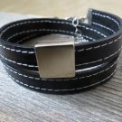 Men's Bracelet - Men's Geometric Bracelet - Men's Leather Bracelet - Men's Jewelry - Men's Gift