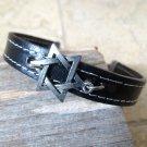 Men's Bracelet - Men's Star Of David Bracelet - Men's Black Bracelet - Men's Leather Bracelet