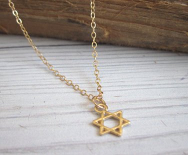 Men's Necklace - Men's Star Of David Necklace - Men's Judaica Necklace - Mens Jewelry