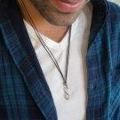 Men's Necklace - Men's Infinity Necklace - Men's Silver Necklace - Mens Jewelry