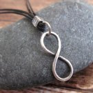 Men's Necklace - Men's Infinity Necklace - Men's Silver Necklace - Mens Jewelry