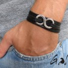 Men's Bracelet - Men's Infinity Bracelet - Men's Black Bracelet - Men's Jewelry - Men's Gift
