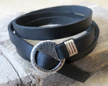Men's Bracelet - Men's Geometric Bracelet - Men's Leather Bracelet - Men's Jewelry - Men's Gift
