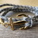 Men's Bracelet - Men's Anchor Bracelet - Men's Jewelry - Men's Gift - Boyfriend Gift - Guys