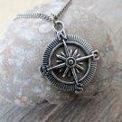Men's Necklace - Men's Compass  Necklace - Men's Silver Necklace - Mens Jewelry