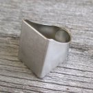 Silver Ring - Adjustable Ring - Wide Ring - Cuff Ring - Stack Ring - Tube Ring