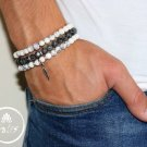 Men's Bracelet Set - Set of 3 Bracelets For Men - Men's Beaded Bracelet - Men's Jewelry - Men's Gift