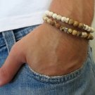 Men's Bracelet Set - Set of 2 Bracelets For Men - Men's Beaded Bracelet - Men's Jewelry - Men's Gift