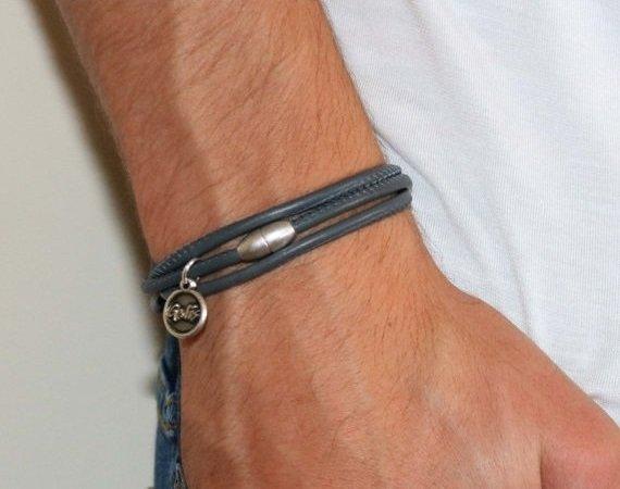 Men's Bracelet -  Men's Leather Bracelet - Men's Jewelry - Men's Gift - Boyfriend Gift