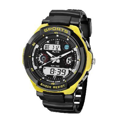 ALIKE AK1170 50M Waterproof Digital Watch Quartz Analog Watch Wristwatch Timepiece for Men Male Boy