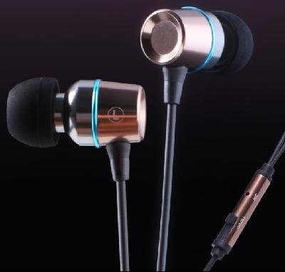 KingTime Coffee 3.5mm plug in-ear stereo TPE metal earphones for iphone, ipod, ipad,samsung